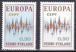 Finland/1972 - Europa CEPT/Euroopa-merkit - Set - MNH - Finland