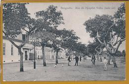 Postal De Benguela, Angola.Rua Do Hospital Velho. Bicicleta.Postcard Of Benguela, Angola. Rua Do Hospital Velho. Bike.2s - Angola