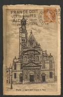 PARIS --EGLISE SAINT ETIENNE DU MONT --GRAVE - Eglises