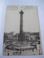 Ancienne Carte Postale Cpa Paris Place De La Bastille La Colonne De Juillet Publicité Bouillon Oxo Liebig - France