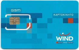 Greece - Wind 64K Mobile GSM Sim Type 2, Mint - Grecia
