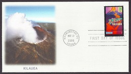USA / United States 2006 Wonders Of America - Kilauea (Hawaii) Most Active Volcano Volcan, Volcanoes, Crater Pu'u'Oo FDC - Entiers Postaux