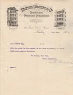 Royaume Uni Facture Lettre Illustrée 23/7/1901 SUTTON SHARPE Designers Printers Publishers LONDON - Royaume-Uni