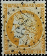 FRANCE Y&T N°38b Cérès 40c Orange Clair. Oblitéré Losange GC N°2684 - 1870 Siege Of Paris