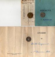 Petite Carte Battue Et Chasse De Floriffoux - Chasse 4 Seigneurs - Herm - Documentos Antiguos