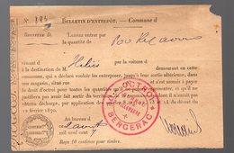 Bergerac (24 Dordogne ) Billet D'OCTROI 1907 (PPP17652 - Non Classificati