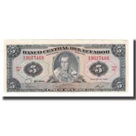 Billet, Équateur, 5 Sucres, 1975-83, 1983-04-20, KM:108b, NEUF - Ecuador