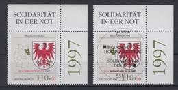 Bund 1941 Eckrand Rechts Oben Hochwasserhilfe Brandenburg 110 Pf ** + ESST Bonn - BRD
