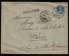 SUISSE - CHAUX DE FONDS / 1903 LETTRE PAR AMBULANT POUR PARIS (ref 4935) - 1882-1906 Coat Of Arms, Standing Helvetia & UPU