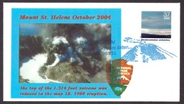 USA / United States - Mount St. Helens Volcano, Volcan, Vulkan, Eruption, 25 Years Later, Special Cancellation - Entiers Postaux