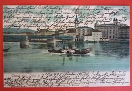 GRUSS AUS LINZ - DONAU DAMPFER ANTON POSCHACHER 1905 - Piroscafi