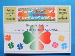 CARTOLINA LOTTERIA NAZIONALE AGNANO 1993 - Biglietti Della Lotteria