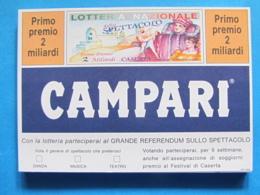 CARTOLINA LOTTERIA NAZIONALE DELLO SPETTACOLO CASERTA 1991 - Biglietti Della Lotteria