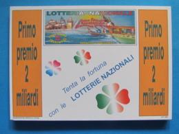 CARTOLINA LOTTERIA NAZIONALE ANTICHE REPUBBLICHE MARINARE 1993 - Biglietti Della Lotteria