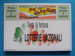 CARTOLINA LOTTERIA NAZIONALE MONZA 1993 - Biglietti Della Lotteria