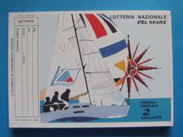 CARTOLINA LOTTERIA NAZIONALE DEL MARE 1990 - Biglietti Della Lotteria