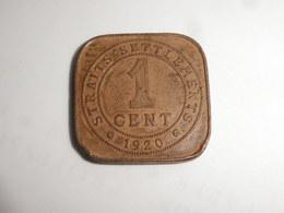 Malaysie Straits Settlements  1 Cent   1920  George V   Km#           Bronze   TTB - Malaysie