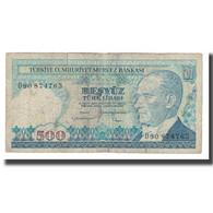 Billet, Turquie, 500 Lira, 1970, 1970-01-14, KM:195, B - Turquie