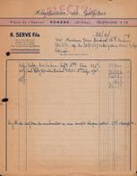 FACTURE SELECT'US - MANUFACTURE DE GALOCHES - ROMANS - DROME - AUCOURT - SAULIEU - 23 NOVEMBRE 1949 - 1900 – 1949