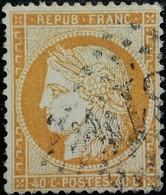 FRANCE Y&T N°38b Cérès 40c Orange Clair. Oblitéré Losange GC N°3814 - 1870 Siege Of Paris
