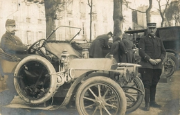 Versailles - Carte Photo 1914 - Automobile Ancienne De Marque ? - Militaria Régiment Soldats Militaires - Versailles