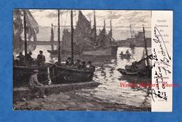 CPA Photo - Peinture & Autographe Du Peintre Julien BOURDON - Pêcheurs Bretons - Bretagne - Lyon Salon 1927 Beaux Arts - Peintures & Tableaux
