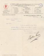 Royaume Uni Facture Lettre Illustrée 18/7/1914 R THORNE & Sons Distillers Irish Scotch Brandy LONDON - Royaume-Uni