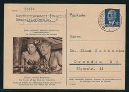 DDR Sonderpostkarte Arbeiterberufe MiNr. P 56 01 (Bergmann) Gestempelt Seifhennersdorf Nach Dresden - DDR
