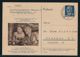 DDR Sonderpostkarte Arbeiterberufe MiNr. P 56 01 (Bergmann) Gestempelt Seifhennersdorf Nach Dresden - [6] République Démocratique