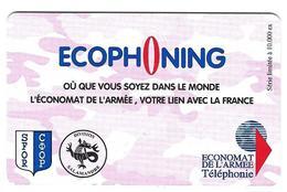 Carte Rose Division Salamandre Ecophoning Sfor économat De L'armée - France