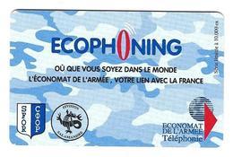 Carte Bleu  Division Salamandre Ecophoning Sfor économat De L'armée - Militär