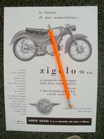 PUBBLICITA' Da Rivista MOTO GUZZI ZIGOLO - Moteurs