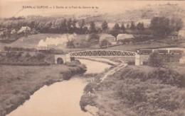 241698Bomal Sur Ourthe, L'Ourthe Et La Pont Du Chemin De Fer. (Avec Train à Vapeur)(voir Coins) - Durbuy