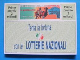 CARTOLINA LOTTERIA NAZIONALE MONTECATINI 1993 - Biglietti Della Lotteria