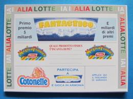 CARTOLINA LOTTERIA NAZIONALE ITALIA 1991 - Biglietti Della Lotteria