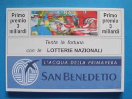 CARTOLINA LOTTERIA NAZIONALE CARNEVALE DI VIAREGGIO E PUTIGNANO 1993 - Biglietti Della Lotteria