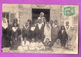 CPA - MAROC - MAZAGAN - PROFESSEUR ET ELEVES DE L ECOLE ARABE FRANCAISE  - 1912 - Maroc