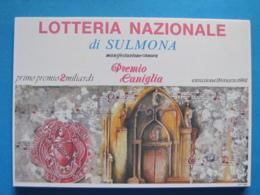CARTOLINA LOTTERIA NAZIONALE SULMONA PREMIO CANIGLIA 1992 - Biglietti Della Lotteria