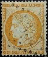 FRANCE Y&T N°38b Cérès 40c Orange Clair. Oblitéré Losange GC N°3667 - 1870 Siege Of Paris