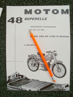 PUBBLICITA' Da Rivista MOTOM 48 - Moteurs