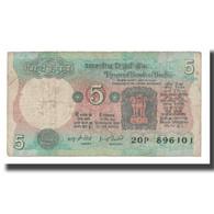 Billet, Inde, 5 Rupees, KM:88Af, B - Inde