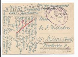 Krieggefangenenkarte Von Garmisch Mit Olympia-Werbestempel Und Zensur Nach Milspe (Westf.) 1947 Bedarfsverwendet - Occupation 1938-45