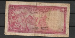 Belgian Congo Ruanda Urundi  50 Fr 1957  Fine - Banknotes