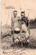 CPA, Congo, Guerriers Udoto Avec Sagaies Et Bouclier - Französisch-Kongo - Sonstige