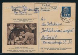 DDR Sonderpostkarte Arbeiterberufe MiNr. P 56 03 (Landwirtschaft) Gestempelt Lohm über Neustadt Nach Berlin - DDR