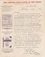 Royaume Uni Lettre Illustrée Journal Publicité 1904 The Wine & Spirit Trade Record LONDON - 4 Scan - Royaume-Uni
