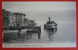 LAGO DI GARDA - GARGNANO - ARRIVO DEL VAPORE - Piroscafi