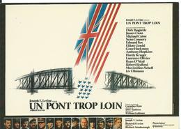 ///  AFFICHE SUR CARTE     ( UN PONT TROP LOIN ) - Posters On Cards