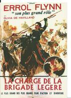 ///  AFFICHE SUR CARTE     ( LA CHARGE DE LA BRIGADE LÉGÈRE ) - Posters On Cards