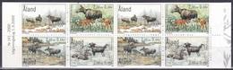 Alandinseln 2000 Tiere Fauna Animals Hirsche Cervids Stags Harts Elche Elks Nord-Elch Eurasian Elks, Mi. 171-4 ** - Aland